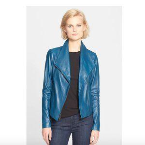 Vince Lamb Leather Scuba Jacket